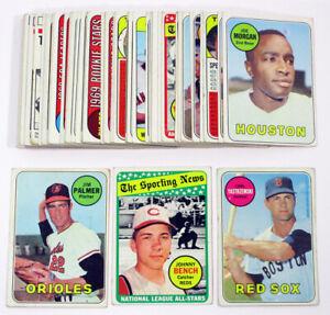 1969 Topps Baseball Starter Set (50 Diff) BV $477 Avg Vg/Ex Carl Yastrzemski