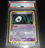 PSA 9 MINT Unown M/28 Ex Unseen Forces HOLO RARE Pokemon Card