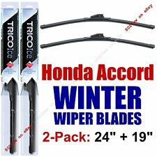1990-1993 Honda Accord WINTER Wipers 2-Pk Premium Beam Blade Winter 35240/35190