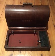 VINTAGE SINGER 3/4 SIZE SEWING MACHINE BENTWOOD CASE/BOX SET 28/185 ETC
