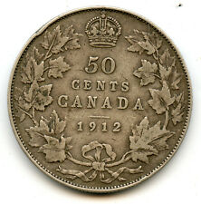 Genuine Silver 1912 Canada 50 Cents | George V