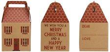 Forma Casa Regalo di Natale Scatola ~ buon Natale e felice anno nuovo