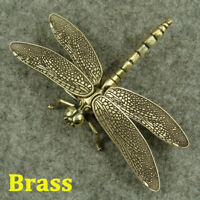 """Brass """"Dragonfly"""" Figurines Statue House/Office Decor Insect Animals Figurines"""