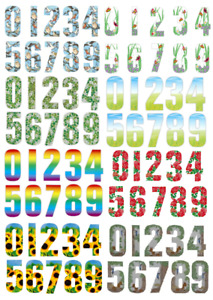 Pack of 3 17cm WHEELIE BIN HOUSE NUMBERS ADHESIVE STICKER NUMBER STICKY GATE