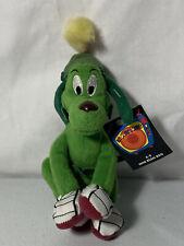 Nwt New - K9 - Loony Tunes Warner Bros - Mini Bean Bag Stuffed Animal Green Dog