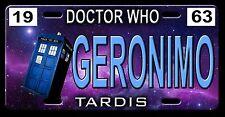 L@@K! Doctor Who Geronimo Tardis Car Vanity Tag  - License Plate