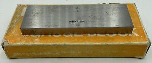 "Mitutoyo 611204-23 Gage Block Rectangular 4"" Grade FS 2"