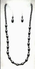 HEMATITE NECKLACE AND EARRING SET- EXCELLENT QUALITY