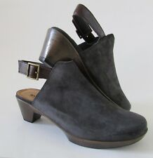 NEW Naot Upgrade Suede and Leather Clogs Midnight Gray Sz 41/10