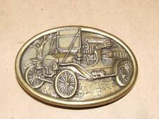 Vintage Avon Brass Tone Model A Ford Car Automobile Oval Belt Buckle
