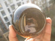 805g(1.77lb) Natural Gold Hair Rutilated Smoky Quartz Crystal Sphere Gem Ball