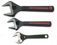"Rothenberger Wide Jaw Wrench Set - 4"", 6"" & 8"" - Softgrip handles"