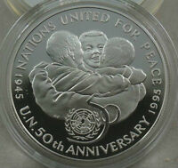 JAMAICA 25 Dollars 1995 Silver Proof UNITED NATIONS