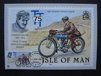 "GB Isle of Man 1982:MK maximum card ""Tourist Trophy: Charlie Collier"", MN 208"