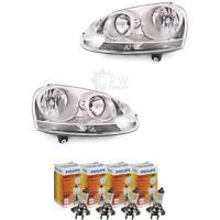 Scheinwerfer Set VW Golf V 5 1K Bj. 03-08 Blende chrom inkl. Lampen 56734681