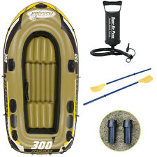 Inflatable Boat Kayak Fishing Yacht Fishing Boats Set with Oars+ Air Pump PAP