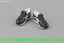 "1/6 Men Shoes Sneakers BLACK For 12"" Phicen Hot Toys Custom Male Figure ❶USA❶"