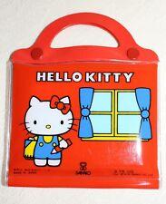 Sanrio 1976 Hello Kitty Colouring Pad Pencils Set Vinyl Japan Vintage Rare VHTF