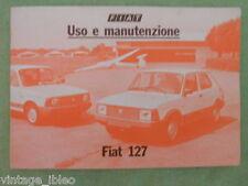 Manuale Uso Manutenzione Auto FIAT 127 Super anni '70