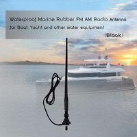 Herdio Marine Rubber Saltwater Flexible  FM AM Radio Waterproof Boat Car Antenna