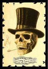 SMOKING SKULL POSTER - 24x36 WARNING ART FANTASY 25