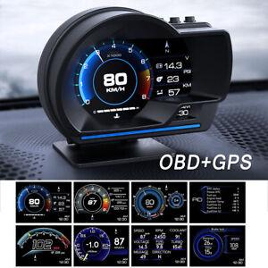 Head Up Display OBD2+ GPS Color LED Navigation HUD Speed Warning Speedmeter Kits
