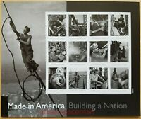 Building a Nation Man on Cable Sheet of 12 Forever Postage Stamps Scott 4801