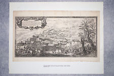 GRAVURE DE LA BATAILLE DE SANDOMIERZ DU 25 MARS 1656. POLOGNE SUEDE LITUANIE