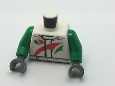 Lego Torso Octan Logo Jacket with Red and Green Stripe Pattern / Green Arms #114