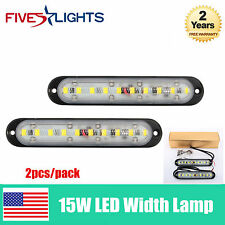 Pair 15W LED Width WORK LIGHT BAR DRIVING OFF ROAD FOG JEEP TRUCK LAMP NEW TYPE