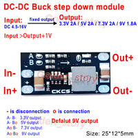 Mini DC-DC Buck-Step Down Volt Converter 5V-12V to 3.3V 5V 7.3V 9V Fixed Output