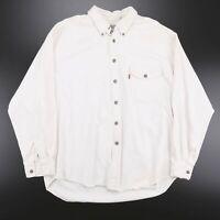 Vintage LEVI'S Red Tab White 00s Long Sleeve Denim Shirt Mens XL