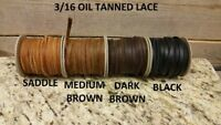 3/16 oil tanned cow hide lace (old west pull up leather) E-18-1-4