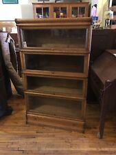 Antique Oak 4 High Stack Barrister Bookcase Arts & Crafts Macey/Globe Wernicke