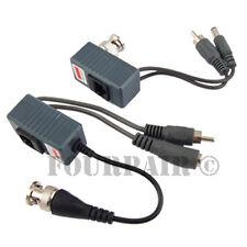 10pcs 5 Pair CCTV Coax BNC Video DC Power RCA Audio Balun Transceiver to CAT5e 6