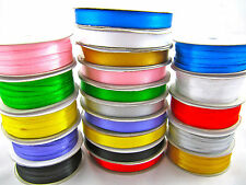 100 Rolls Of Double Satin Ribbon 3mm and 10mm Wide Many Colours Any Combination
