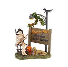 "Department 56 ~ Snow Village Halloween Lit Accessory ""Bone To Rock"" ~ New ~ Mib"