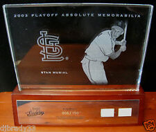 Stan Musial 2003 Absolute  Memorabilia 6/150 Game Used Bat Jersey 1/1 Etched