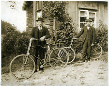Old Duffers With Vintage Bicycles Log Cabin Bikes Old Guys Antique Bicycles COOL