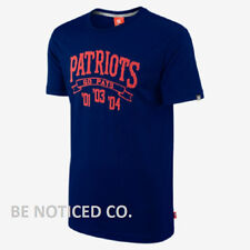 Nike Instant Replay NFL Patriots Men's T-Shirt Blue M Gym Casual Training New