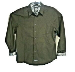 English Laundry by Christopher Wicks Blaque Label Men's Shirt Brown Size XL