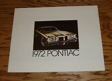Original 1972 Pontiac Full Line Sales Brochure 72 GTO Firebird Formula