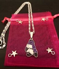 "EEYORE DISNEY Winnie The Pooh Charater PENDANT Charm 16"" Silver Plated Necklace"