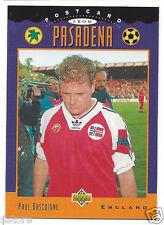 RARE Special '94 WC Upper Deck trading Card PostCard of England's Paul Gascoigne
