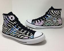 Converse #554888F HiTop Chuck Taylor AllStarBlack  Zebra Women Shoes Sz 5 NEW