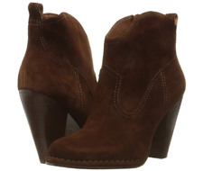 New in Box FRYE Womens Madeline Short Suede Brown Boots  Size 9.5 M MSRP $ 358