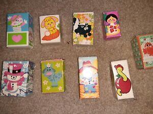 9 Vintage 70's Avon Perfume Pin Pals w/Boxes!