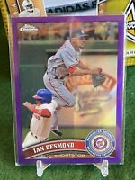 2011 Topps Chrome Retail Purple Refractor #/499 Ian Desmond #149