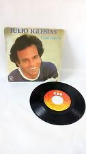 """45 tours JULIO IGLESIAS """"C'est Ma Vie / Elle""""  vinyles vintage musique 80s 70s"""