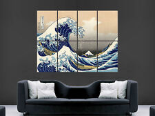 The Great Wave Off Kanagawa Poster Japonais Japon Mont Fuji Wall Art grandes